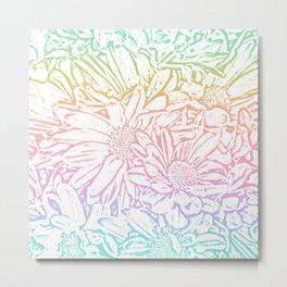 Daisy Daisy Pastel Rainbow Metal Print