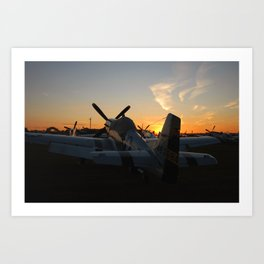 P-51 Sunset Art Print