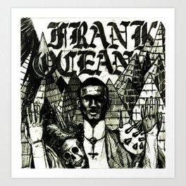 FRNAK OCEAN METAL Art Print