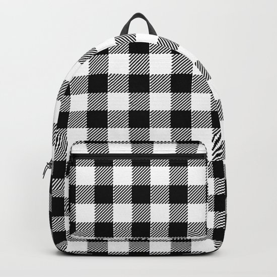 90's Buffalo Check Plaid in Black and White by elliottdesignfactory