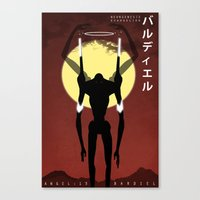 neon genesis evangelion Canvas Prints featuring Neon Genesis Evangelion - Angel 13: Bardiel by MNM Studios