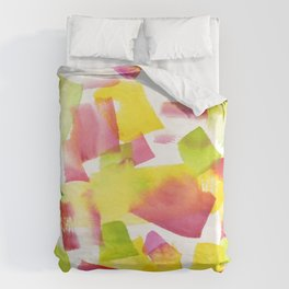 180719 Koh-I-Noor Watercolour Abstract 34| Watercolor Brush Strokes Duvet Cover