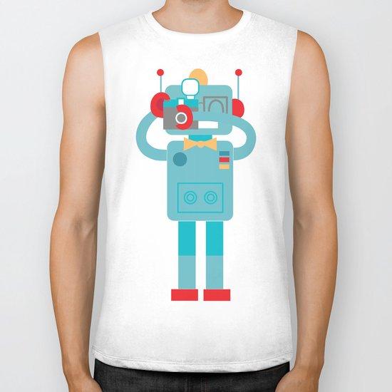 Robot loves Diana Biker Tank