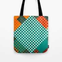 dots Tote Bags featuring Dots by SensualPatterns