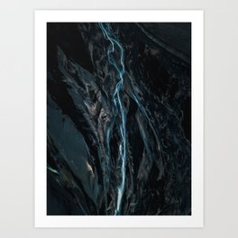 Abstract River in Iceland - Landscape Photography Art Print