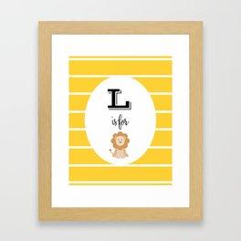 L for Lion Framed Art Print
