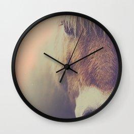 The curious girl Wall Clock