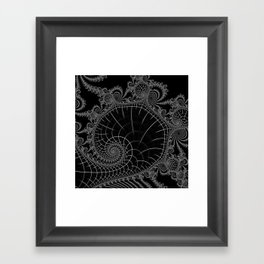 Peaks Inverted Framed Art Print