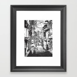 Kyoto Noodles Framed Art Print