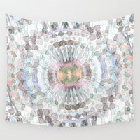kaleidoscope Wall Tapestries featuring kaleidoscope by abbykaye
