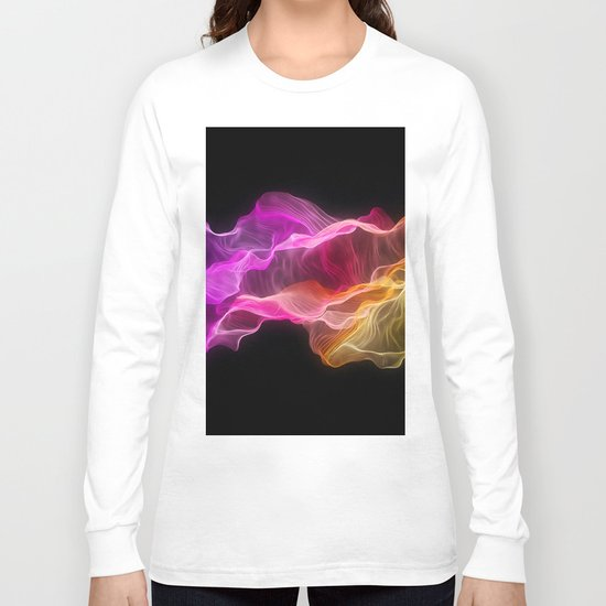 Rainbow satin Long Sleeve T-shirt