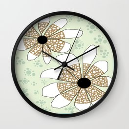 FLOWERY CARMEN  / ORIGINAL DANISH DESIGN bykazandholly Wall Clock