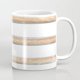 Peach gray stripes Coffee Mug