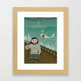 Whaling like a Baby Framed Art Print