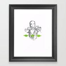 Leaf Lady Framed Art Print