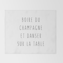 Champagne ! Throw Blanket