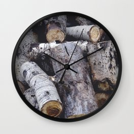 Another Log on the Pile Wall Clock
