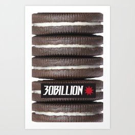 30Billion CP - Cookies and Cream Art Print