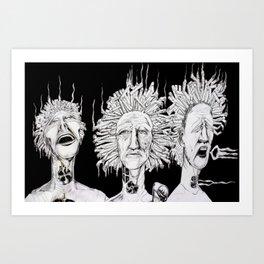 Puff, Puff, Pass Art Print