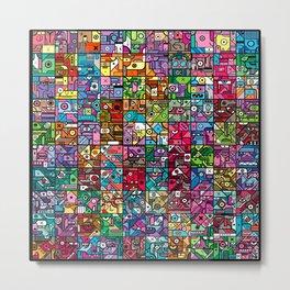 100 Squares Metal Print