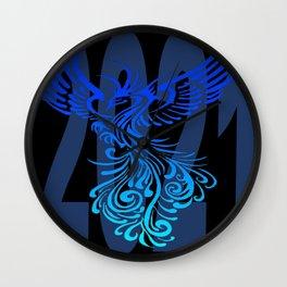 2021 In Democrat Blue With Phoenix Bird Wall Clock