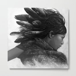 The Mermaid Metal Print