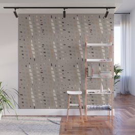 Taupe Grey Linen Brown Chip Abstract Wall Mural