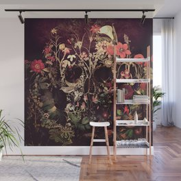 Bloom Skull Wall Mural