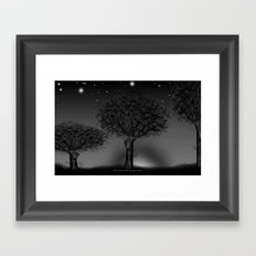 THREE TREES - 030 Framed Art Print