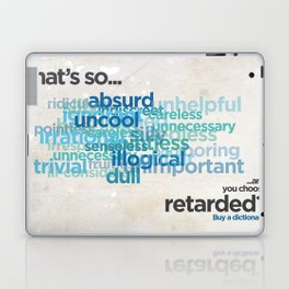 """Buy a Dictionary (""""That's So Retarded"""") Laptop & iPad Skin"""