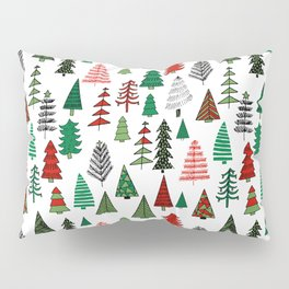 Christmas tree forest minimal scandi patterned holiday forest winter Pillow Sham