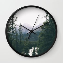 Jasper National Park II Wall Clock