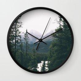 Jasper National Park II Wall Clock