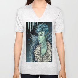 Queen of the Winter Faerie Court Unisex V-Neck