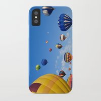 hot air balloons iPhone & iPod Cases featuring Vibrant Hot Air Balloons by Nicolas Raymond