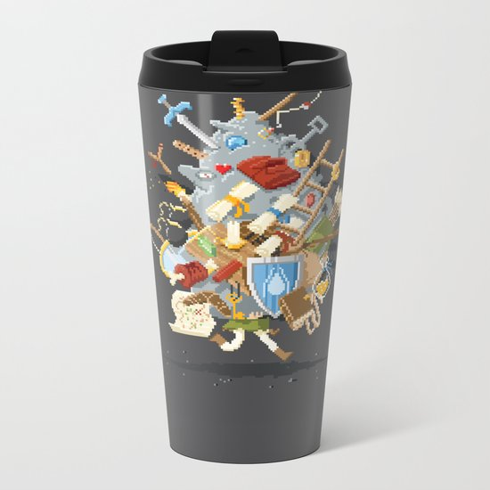 It's Dangerous to go alone, Take This. Metal Travel Mug