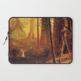 Giant Redwood Trees Of California 1874 By Albert Bierstadt | Reproduction Painting Laptop Sleeve