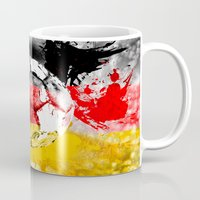 germany Mugs featuring  football germany by seb mcnulty