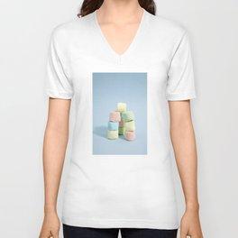 tower of rainbow marshmallow Unisex V-Neck