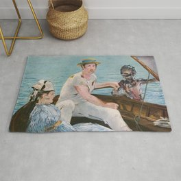 Boating on Crystal Lake: Manet Meets Friday the 13th Rug