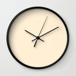 color papaya whip Wall Clock