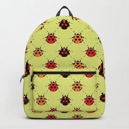 Lady Bug Yellow Backpack