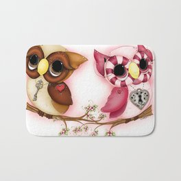 So In Love Hooties - Owl iPhone Case Bath Mat