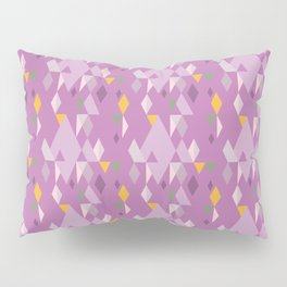 Rhombuses on lilac background, abstract seamless pattern Pillow Sham