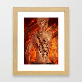 Scars - Celaena Framed Art Print