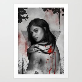 Bad blood Art Print