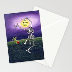 Skeleton Moon Stationery Cards