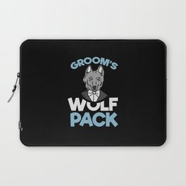 Groom's T-Shirt: Wolf Pack I Best Man I Husband I Beer Laptop Sleeve