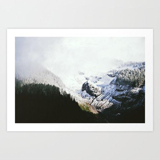 Mountain Valley Contrast Art Print