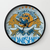 punisher Wall Clocks featuring Punisher by Tshirt-Factory